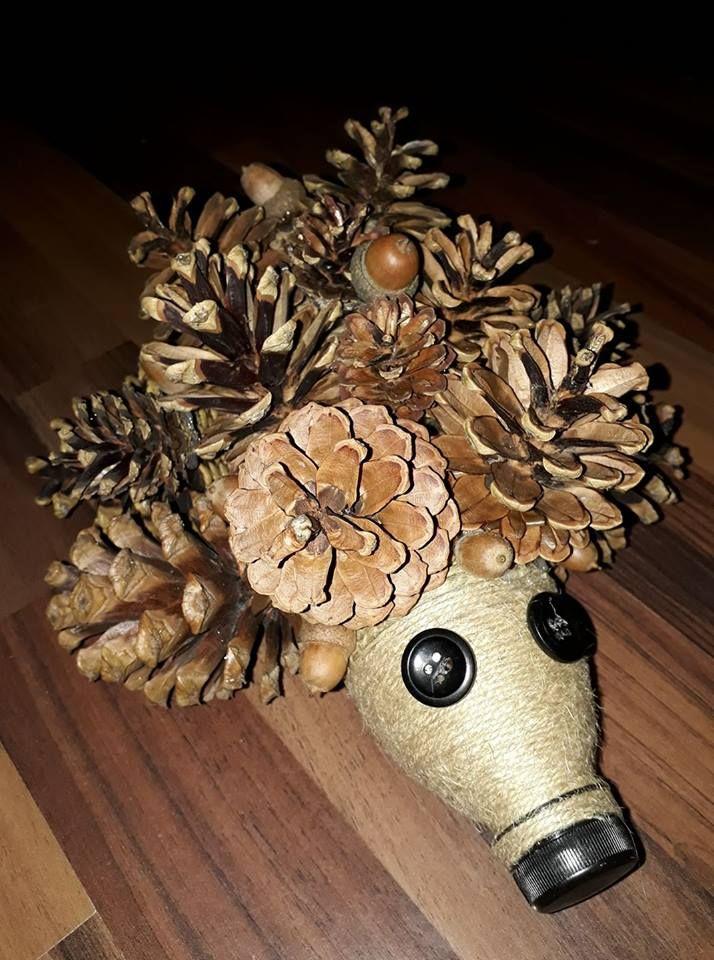 персонажа картинки поделок из шишек и листьев интерьера
